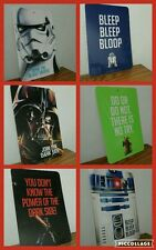 Lot of 6 double sided star wars signs. Yoda darth vadar storm trooper r2d2
