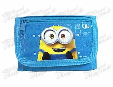 Minions Bob Teen Boys Tri-Fold Wallet - Mint Blue