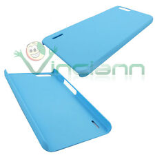 Pellicola+Custodia back cover rigida AZZURRA per Huawei Honor 6 Plus 6X sottile