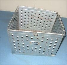 Vintage Gym Locker Metal Wire Basket by Kaspar Wire Works in Shiner Texas, USA