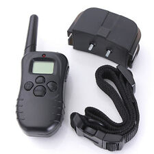 Electric Trainer Waterproof E-Collar Remote Pet Safe Dog Shock Training Collar b
