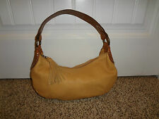 Fossil Soft Leather Mustard Tan Tassel Bag Purse Shoulder Bag CUTE NICE