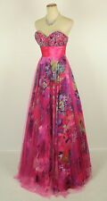 New FAVIANA 6901 Print / Lipstick Evening Ball Gown Formal Dress  Size 0