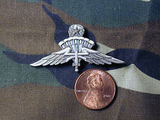 Military Freefall HALO Jumpmaster Parachutist miniature jump wings badge silver