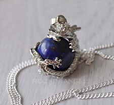 Plata 925 Collar Lapislázuli, piedra de Dragon Ball Colgante curación Reiki Chakras