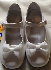 Shoes dress girls size 11M new EUR 28.5 Smartfit white man made materials bow