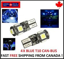 4PCS T10 BLUE 194 168 1W 5SMD LED No Error Canbus Side Lamp Wedge Light Bulb  1W