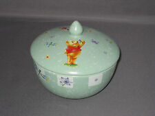 **MAKE AN OFFER** MUST SELL  The Disney Store's Winnie The Pooh green bowl w/top