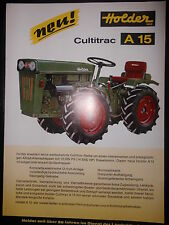 Prospekt Sales Brochure Holder Cultitrac A 15 Technische Daten 12 PS 550ccm