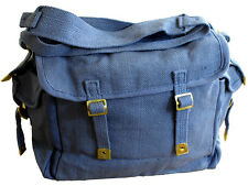 Army Canvas Webbing Haversack Retro RAF Blue Bag 9L Fishing Camping Festival