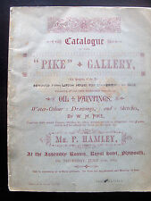 1883 Auction Catalogue, works by William Henry Pike (W H Pike 1846-1908)
