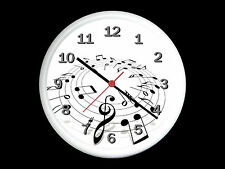 Musical Notes Wall Clock Can be Personalised
