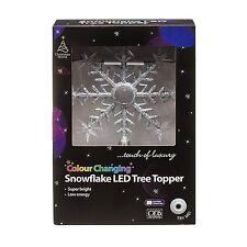 Couleur Changeante LED Flocon de neige Noël Pour Sommet Sapin Décorations étoile