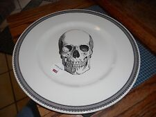 "New Royal Stafford Made In England Pottery Skull Halloween 11"" Dinner Plate (s)"