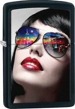 Zippo Windproof New York  Girl Reflective Sunglasses Lighter, 29090, New In Box