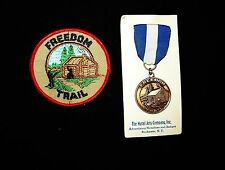 BOY SCOUT   FREEDOM TRAIL MEDAL & PP LOT    INDIANA