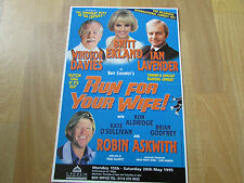 RUN for your WIFE   Britt  EKLAND 1995  Lyceum Theatre SHEFFIELD Original Poster