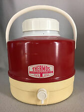 Vintage Thermos Picnic Jug 1 Gallon Red White Faucet Drink Cooler Model 7753