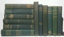 1864-1912~O'HENRY~RUSKIN~DICKENS~PLOTINUS~Antique Green 12 BOOK Lot~Very Old Set
