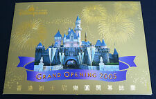 China Hong Kong 2005 Disneyland Grand Opening stamp pack gold stamp!