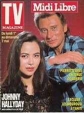 TV MAGAZINE MIDI LIBRE AVRIL 1989 JOHNNY HALLYDAY / LIO