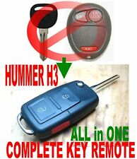 HUMMER H3 ALin1 FLIP CHIP KEYLESS ENTRY TRANSPONDER KEY TRANSMITTER REMOTE FOB W