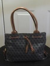DOONEY & BOURKE PURSE SHOULDER BAG CANVAS & LEATHER
