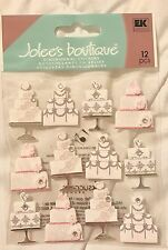 Jolee's Boutique Wedding Cake Bride Reception Scrapbook Stickers