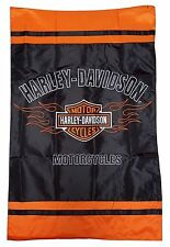 BAR SHIELD FLAME Harley Davidson Motorcycles® Decorative Flag 2 Side Embroidered
