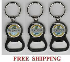HOEGAARDEN BELGIAN WHITE ALE 3 KEY RING BEER BOTTLE WRENCH METAL OPENER NEW