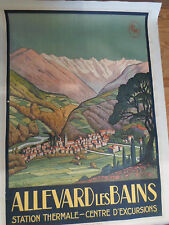 Affiche originale vintage - PLM - ALLEVARD LES BAINS  - Jean Julien - thermale