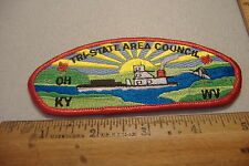 ~TRI-STATE AREA COUNCIL~OH KY WV.~FABRIC BOY SCOUT PATCH~