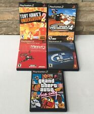 LOT of 5 Playstation 2 PS2 Video Games Tony Hawk 2 4 Mirra Gran Turismo GTA Vice