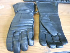 NOS NEW Vintage Leather Gloves Medium Chopper Bobber with Rain Covers and Pocket