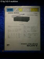 Sony Service Manual TA F120 /F220 Amplifier (#5780)