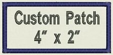 """Custom Rectangle Name Patch, Tag, Label 4"""" x 2"""" - Iron On / Sew On - Fast Ship"""