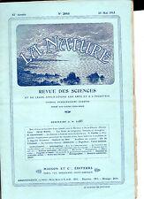 La Nature N° 2085 - Mai 1913- Revue des sciences - Bateaux à Fonds de Verre