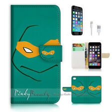 iPhone 7 (4.7') Flip Wallet Case Cover P1225 TMNT Ninja Turtle