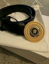 Versace medusa authentic women's black leather belt BNWT