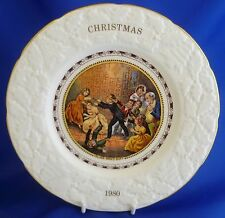 COALPORT CHRISTMAS COLLECTOR PLATE - BLIND MAN'S BUFF 1980