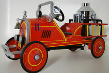 Pedal Car 1920s Ford Fire Engine Red Truck Vintage Midget Metal Show Model Art