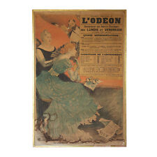 "French ""Théàtre National de L'Odéon"" Poster by Eugène Grasset. 1890. Antique Art"