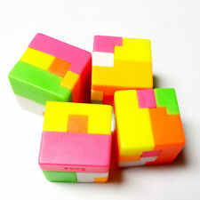 """10 Piece Cube Puzzle 1"""" Birthday Party Favour Brain Toys Gifts Prize Pinata bag"""
