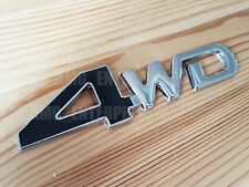 BLACK Silver Chrome 3D 4WD Metal Badge Sticker for Ford Ranger Edge Ecosport SUV