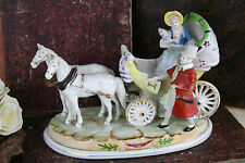 VTG porcelain Carriage figurines horses 1970's