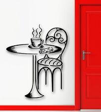 Wall Stickers Vinyl Decal Cafe Dinner Table Breakfast Newspaper Decor (ig1032)
