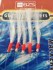 10 packets of glitter flasher mackerel mackeral feathers 5 hooks lures bass