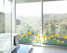 Sunflower Borders Wall Stickers,Wall Decals A_MYAF