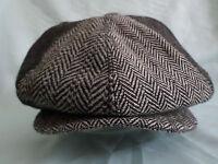 GENTS TRENDY 8 PIECE RETRO NEWSBOY 8-PANEL HAT 1920'S 1930'S BAKER BOY CAP