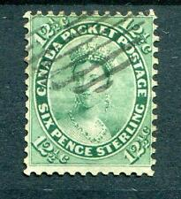 Colony of Canada 1859 12½c blue-green SG41 FU